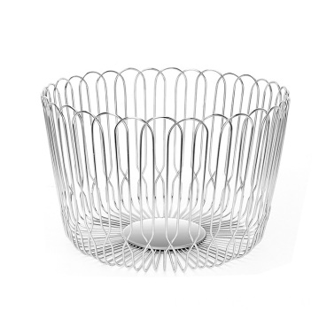 Sampling stainless steel dry package kitchen decorated fruit basket
